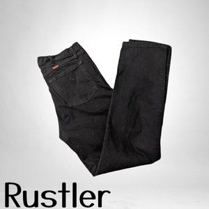 Rustler Men's 4 pocket Black Jeans 34 x 34